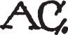 A. C.: Signature or Monogram