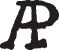 Cover A. P.: Signature or Monogram