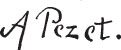A. Pezet: Signature or Monogram