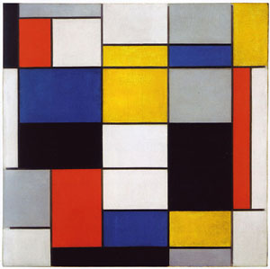 Work by Piet Mondrian