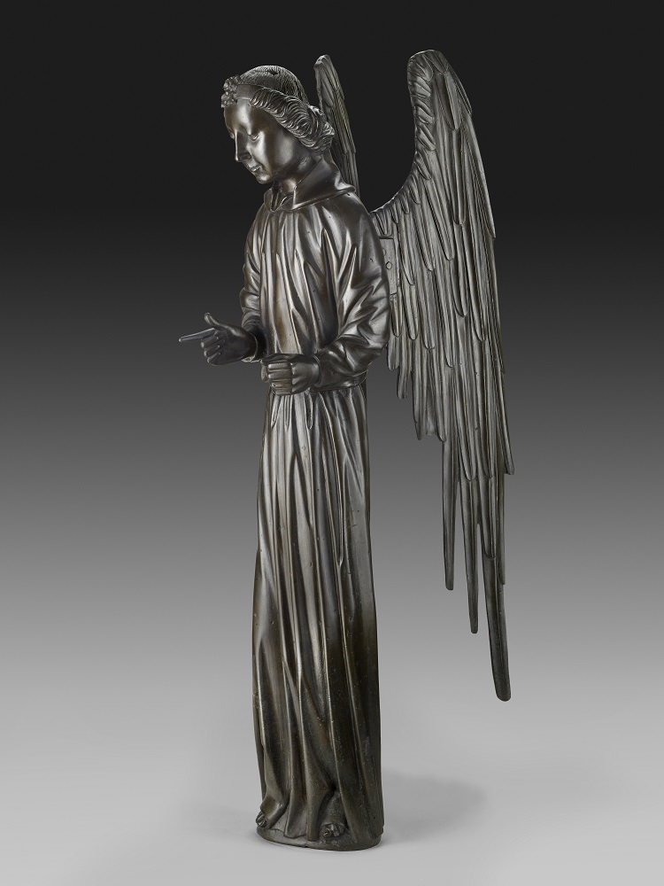 Jean (Jehan) Barbet: Angel, bronze, H: 44 ½ in. (113 cm), 1475, (New York The Frick Collection, Henry Clay Frick Bequest, Accession ID: 1943.2.82)