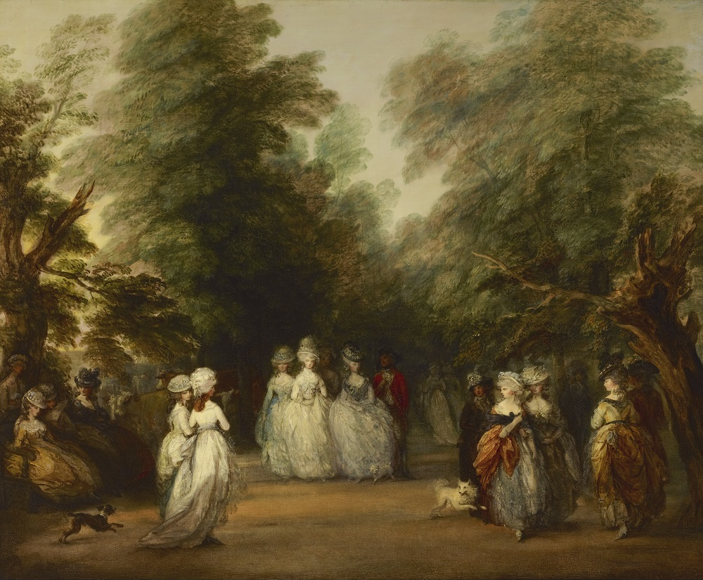 Thomas Gainsborough: The Mall in St. James's Park, oil on canvas, 47 ½ x 57 7/8 in. (120.7 x 147 cm), ca. 1783 (New York, The Frick Collection, Henry Clay Frick Bequest, Accession ID: 1916.1.62); image copyright The Frick Collection