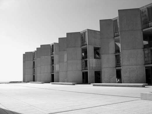 Louis I. Kahn: view of study towers, looking west, Salk Institute for Biological Studies, La Jolla, CA, 1959–65; photograph taken in 2006 (New York, Museum of Modern Art, photograph by Lisa Mazzola); courtesy of The Museum of Modern Art, New York