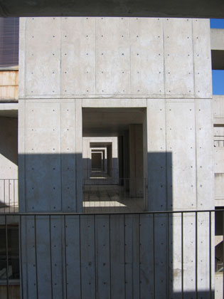 Louis I. Kahn: detail of laboratory tower of Salk Institute for Biological Studies, La Jolla, CA, 1959–65; photograph taken in 2006 (New York, Museum of Modern Art, photograph by Lisa Mazzola); courtesy of The Museum of Modern Art, New York