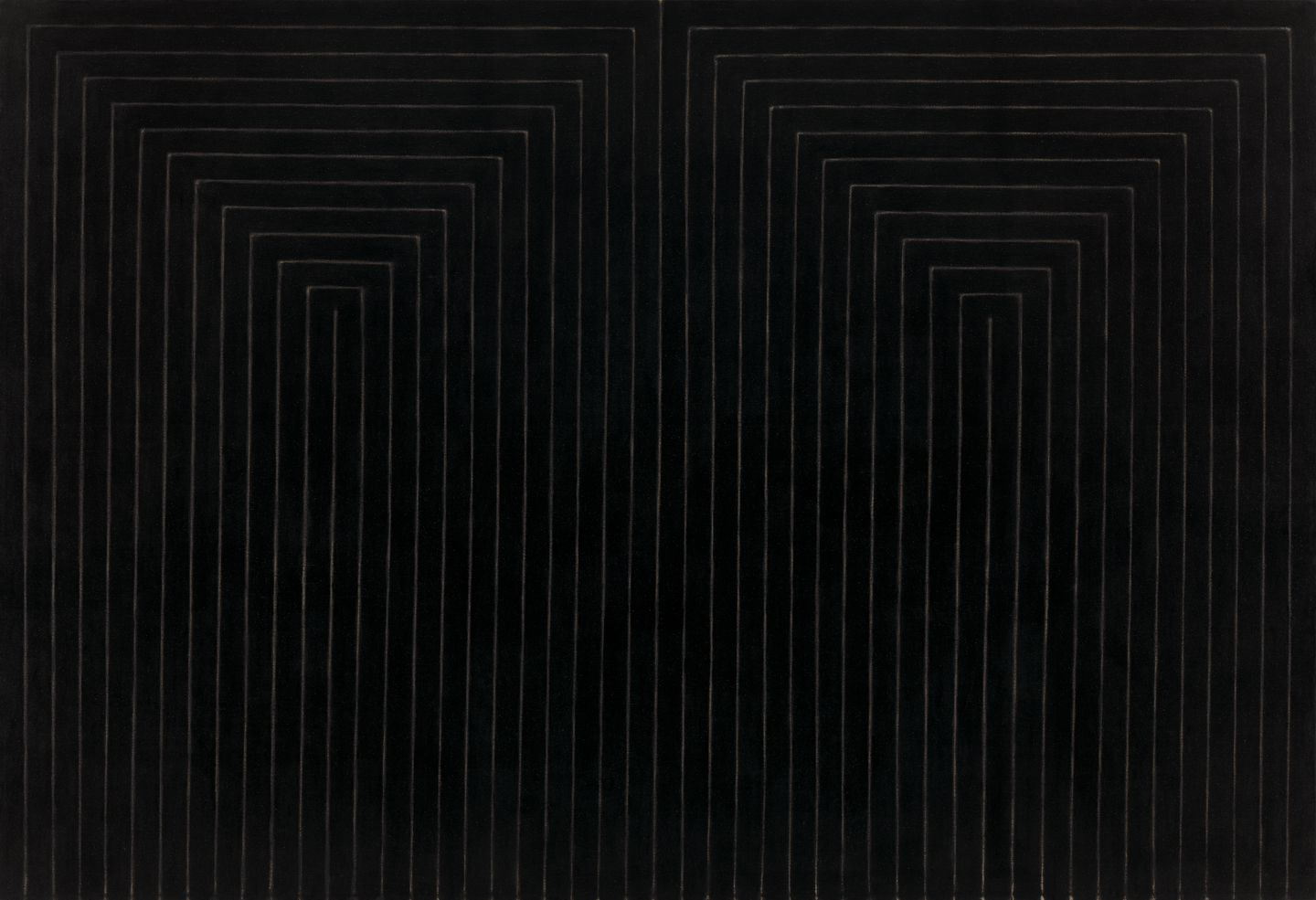 Frank Stella: The Marriage of Reason and Squalor, II, enamel on canvas, 2.31×3.37 m, 1959 (New York, Museum of Modern Art); © 2007 Frank Stella/Artists Rights Society (ARS), New York, courtesy of The Museum of Modern Art, New York