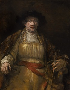 Rembrandt Harmensz. van Rijn: Self-Portrait, oil on canvas, 52 5/8 x 40 7/8 in. (133.7 x 103.8 cm), 1658, (New York, The Frick Collection, Henry Clay Frick Bequest, Accession ID: 1906.1.97), image copyright The Frick Collection