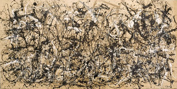 Jackson Pollock: Number 30, 1950 (Autumn Rhythm), enamel on canvas, 2.667×5.258 m, 1950 (New York, Metropolitan Museum of Art, George A. Hearn Fund, 1957, Accession ID: 57.92); © 2011 The Pollock–Krasner Foundation/Artists Rights Society (ARS), New York; image © The Metropolitan Museum of Art