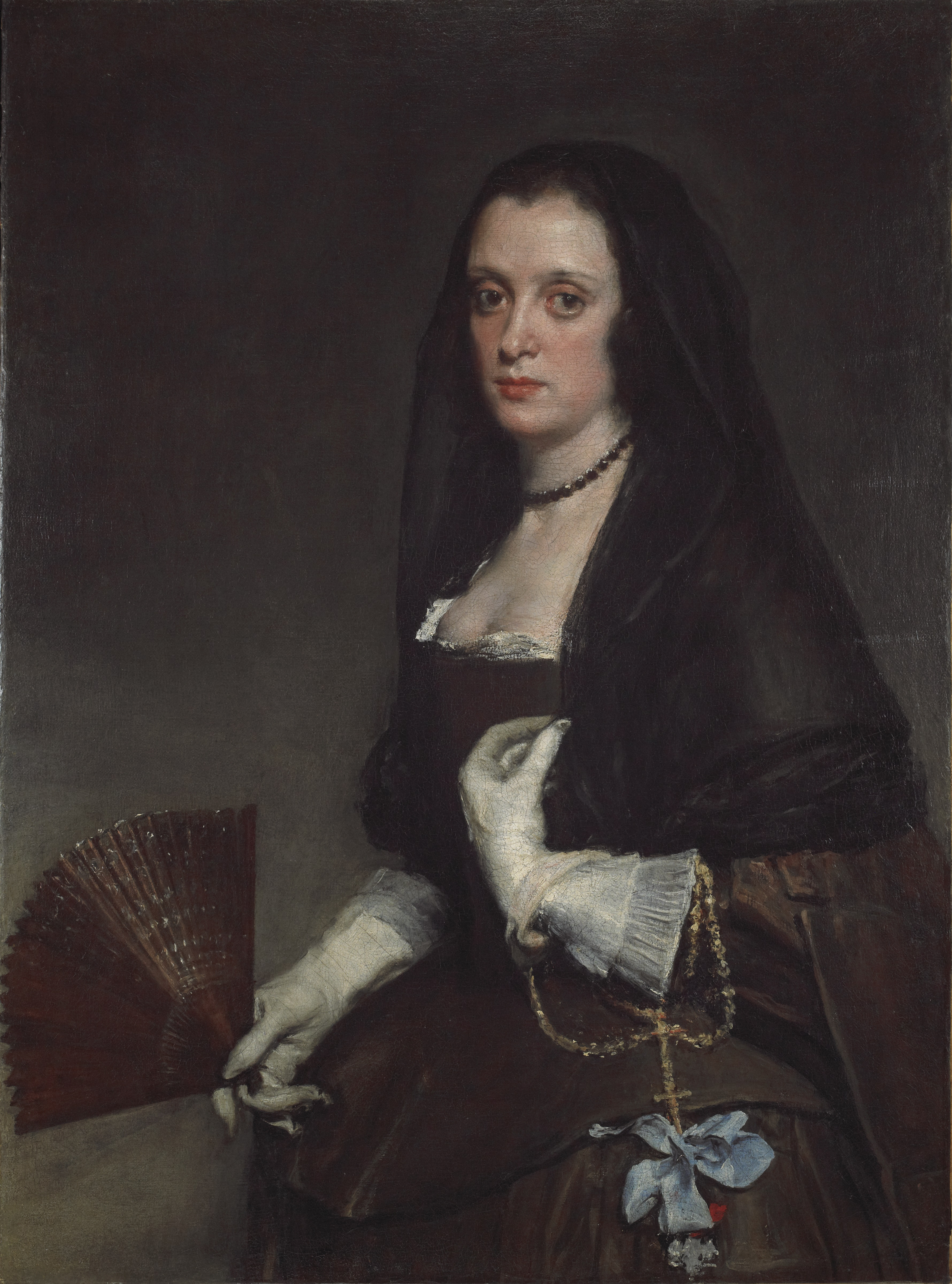 Diego Velázquez: The Lady with a Fan, oil on canvas, 95 x 70 cm, c. 1640, (London: The Wallace Collection, Object No. P88), image courtesy of The Wallace Collection