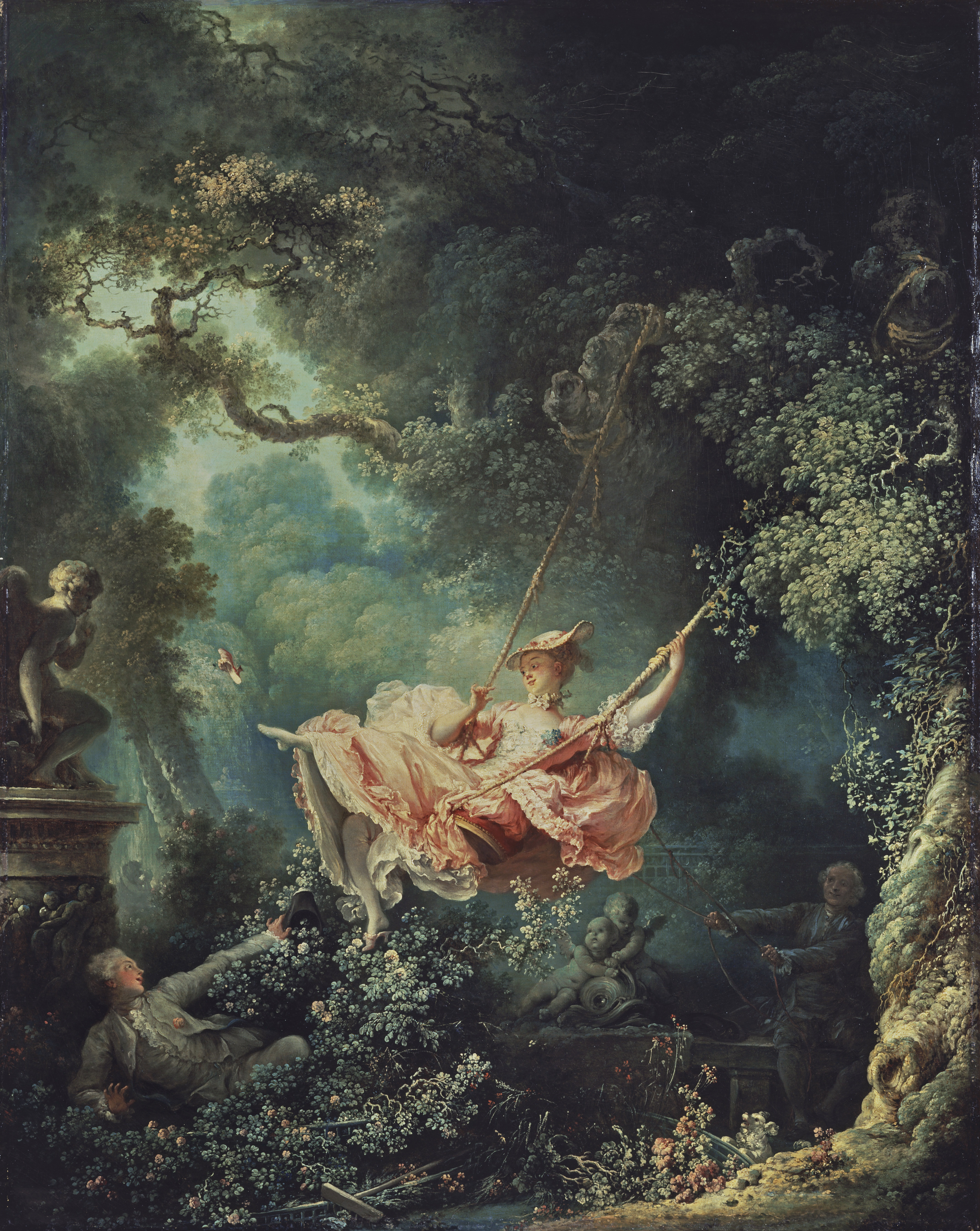 Jean-Honoré Fragonard, The <em>Les hazards heureux de l'escarpolette (The Swing)</em>, oil on canvas, c.1767-8 (London: Wallace Collection, Object No. P430); image courtesy of the Wallace Collection