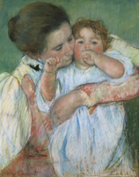 Mary Cassatt: Mother and Child, pastel on paper, 550×460 mm, 1897 (Paris, Musée d'Orsay); photo credit: Réunion des Musées Nationaux/Art Resource, NY