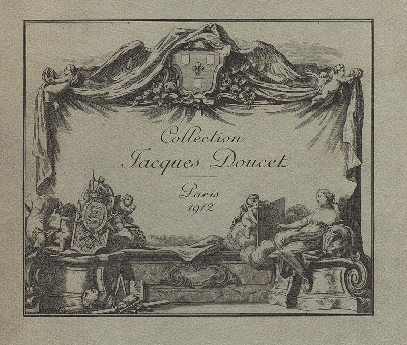 Catalog of the sale of the collection of Jacques Doucet, Paris, 1912, public domain