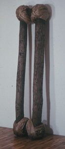Bound Logs, wood and hemp,  2743.2x787.4x469.9 mm, 1972–3,  photo courtesy of the artist