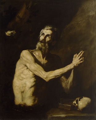 Jusepe de Ribera: St Paul the Hermit, oil on canvas, c. 1638 (Baltimore, Walters Art Museum)