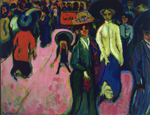 Ernst Ludwig Kirchner: Street, Dresden, oil on canvas, 1.51×2.00 m, 1908 (dated 1907) (New York, Museum             of Modern Art); © by Ingeborg & Dr. Wolfgang Henze-Ketterer, Wichtrach/Bern, photo © Museum of Modern Art/Licensed by SCALA/Art Resource, NY