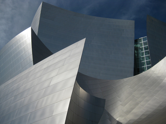 Frank Gehry: Walt Disney Concert Hall, Los Angeles, CA, 1999–2003; photo credit: A. Larson