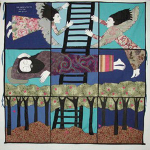 Jacob's Ladder, painted canvas, print cloth, appliqué, 2006 photo courtesy of the artist