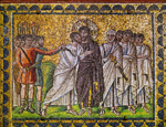 Ravenna, S Apollinare Nuovo, mosaic showing the Betrayal of Christ, c. 500;             photo credit: Erich Lessing/Art Resource, NY