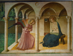 Fra Angelico: Annunciation (c. 1440–45), fresco, north corridor,             monastery of S Marco, Florence; photo credit: Erich Lessing/Art Resource, NY