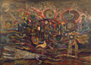 Boghossian Skunder: The End of the Beginning, oil on canvas, 1225x1700 mm, 1972‒73 (Washington, DC, National Museum of African Art, Smithsonian Institution, museum purchase, 91-18-2); © National Museum of African Art, Smithsonian Institution/Photograph by Franko Khoury