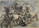 Peter Paul Rubens: Battle of Anghiari (also called the Battle for the Standard), black chalk, pen and brown ink, heightened with gray white, 452x637 mm, 15th century (Paris, Louvre); © RMN-Grand Palais/Art Resource, NY