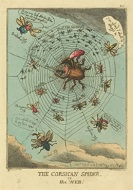 Thomas Rowlandson: The Corsican Spider in His Web, 1808; image courtesy of             the National Gallery of Art, Washington, DC