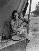 Dorothea Lange: Migrant agricultural worker's family, nitrate film negative,             101.6×127 mm, 1936 (Washington, DC, Library of Congress, Prints and Photographs Division); image courtesy of the Library of Congress